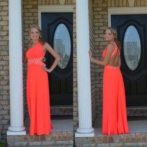 Blondie Nites Dresses - Coral color Formal Dress